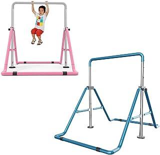 Kaibrite Barre de gymnastique pour enfants - Barre de gymnastique horizontale - Pour entraînement à la maison - Hauteur ré...
