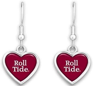 FTH Alabama Crimson Tide Heart Slogan Earrings