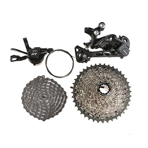Shimano Deore XT M8000MTB - Juego completo de componentes para bicicleta de 11 velocidades - Desviador
