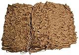 3x2 m Red de Camuflaje en Colores Negro Blanco Verde Oliva y Coyote del Desierto - Ejército Federal Caza Exterior Armada BW Camping - Producto Original Inet-Trades GmbH - 3x2 m, Poliéster, Coyote del desierto