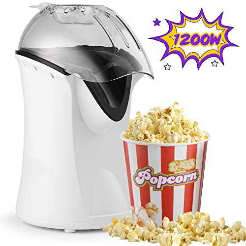 Best Price Hot Air Popcorn Popper, 1200W Popcorn Machine for Home Use, No Oil Needed Popcorn Maker, ...