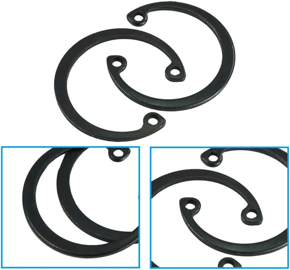 M8-M26 Tyelany C-Clip Snap Circlip Kit 150 Pcs Retaining Ring Assortment 15 Different Sizes 65Mn Steel C-Clip for Hole Internal Opening Ring Circlip Meet Most Needs with a Sturdy Plastic Box