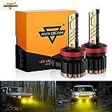 Auxbeam H11 H8 H9 H16 LED Fog Light Bulbs 3000K Yellow,...