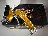 kingu LVMP Sparyer GTI PRO LITE Gold 1.3mm Nozzle w/t Cup Professional Car Paint Tool Pistol Spray Gun