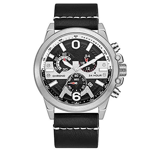 Relojes para Hombres, nuevos Relojes electrónicos de cronógrafo de Deportes al Aire Libre, Relojes de Agua Impermeables Luminosos unisexes Juveniles, los Mejores reg White