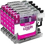 TONERPACK 5 Cartuchos de Tinta Compatible con Brother LC223 LC-223XL Magenta para MFC-J5320dw MFC-J5620dw MFC-J4420dw MFC-J480dw DCP-J4120dw DCP-J562dw