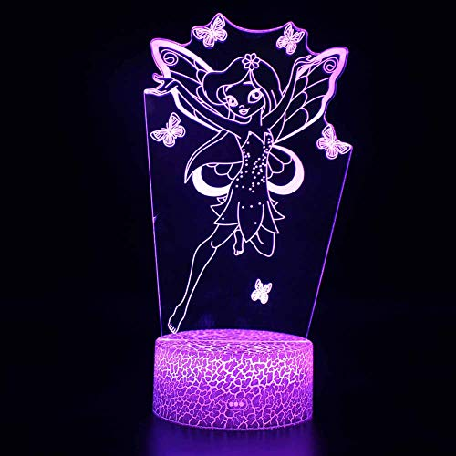 AOKARLIA 3D Optical Illusion Lampe LED-Nachtlicht, 7 Farbänderung Berühren Sie Empfindliches des Schalters Mit Acrylflachem, ABS-Unterseite, USB-Gebühr Für Hauptdekor Baby,A14