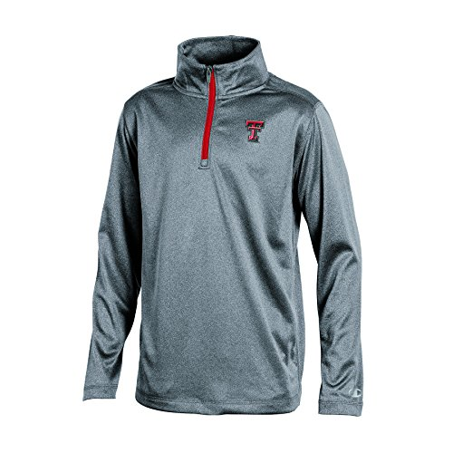 CHAMPION NCAA Jungen Lange Ärmel Synthetik Quarter Zip Jacke, Jugendliche Jungen, NCAA Boy's Long Sleeve Synthetic Quarter Zip, Gray Heather, Medium