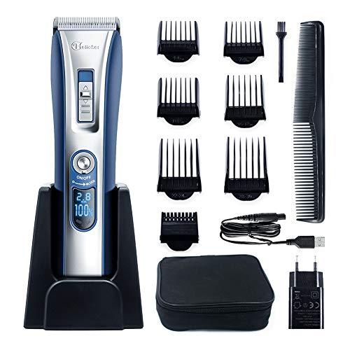 HATTEKER Tondeuse Cheveux Professionnelle Tondeuse Barbe Electrique homme Ecran LCD Sans Fil USB...