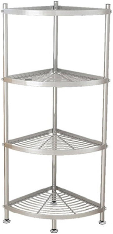ZZHF yushizhiwujia Storage Racks 304 Stainless Steel Kitchen Triangle Shelf Floor-Standing Multi-Layer Pan Rack (Size   106  36  36cm)