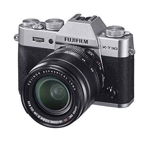 Fujifilm X-T30 Kit con Objetivo XF18-55mmF2.8-4 R LM OIS, Kit Cámara con Objetivo Intercambiable XF18-55/2.8-4, Plata