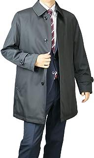 ビジネスコート メンズ ステンカラーコート ハーフコート 撥水 ボンディング 軽い 暖かい 秋冬春 スリーシーズン 取り外し キルティング 417652