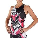 Zoot Equipo de triatlón Femenino Estilo Racerback con Sujetador Integrado, 3 Bolsillos Traseros, FPS 50+ y Costuras SeamLink Tamaño S