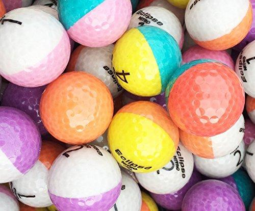 lbc-sports 12 Bunte Nitro Crystal Bicolor Golfbälle AAAA - AAA Lakeballs Optic Bälle