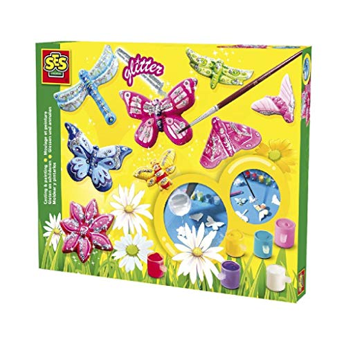 SES 2201131 - Stampi in Gesso, Farfalla con Glitter