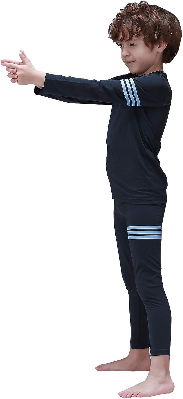 Mini-K Toddler Boys Girls Fleece Lined Soft Thermal Underwear Base Layer Long John Set Pajamas