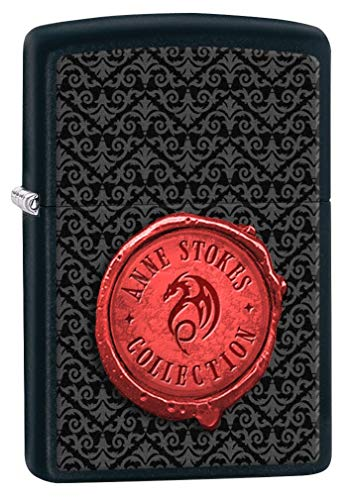 Zippo Feuerzeug: Anne Stokes Collection Insignia, Schwarz Matt 77037