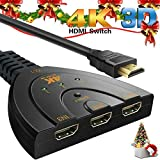 HDMI Switcher 4K AiYun HDMI Switch Splitter 3 Ports 19 Broches HD Standard Pigtail...