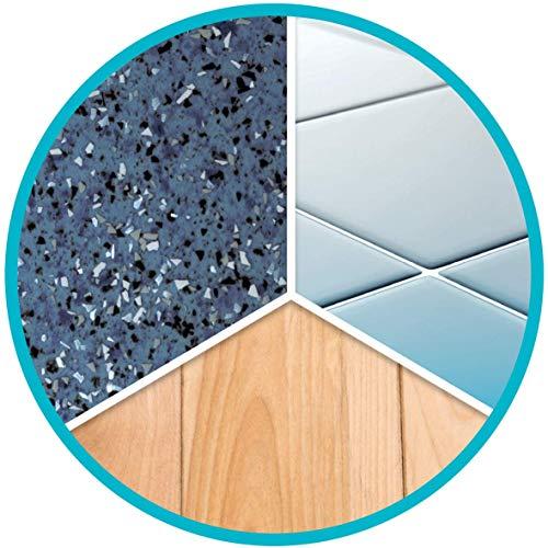 Spontex Catch & Clean, Kehrbesen mit Gummiborsten, Teleskopstiel und praktischem Auffangbehälter, hygienische und effiziente Reinigung für alle Bodenbeläge, 1 Set - 6