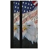 Oarencol Juego de 2 fundas para manija de puerta de nevera, diseño de águila calva vintage con bandera americana de Estados Unidos, diseño de pájaros, decoración para frigorífico, horno y lavavajillas
