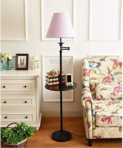 XUSHEN-HU Stehlampe Wohnzimmer Schlafzimmer Einfache Lagerung Vertikaler Couchtisch Tablett Fernbedienung Dekorative Lampe Modern (Lampenschirm-Farbe: 2)