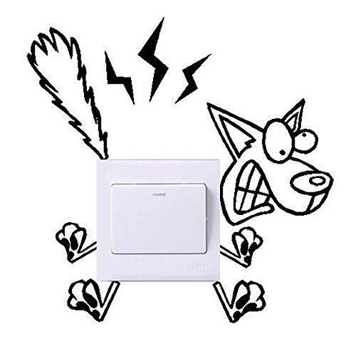 Topgrowth - Adhesivo decorativo de vinilo para interruptor de pared, bonito interruptor adhesivo