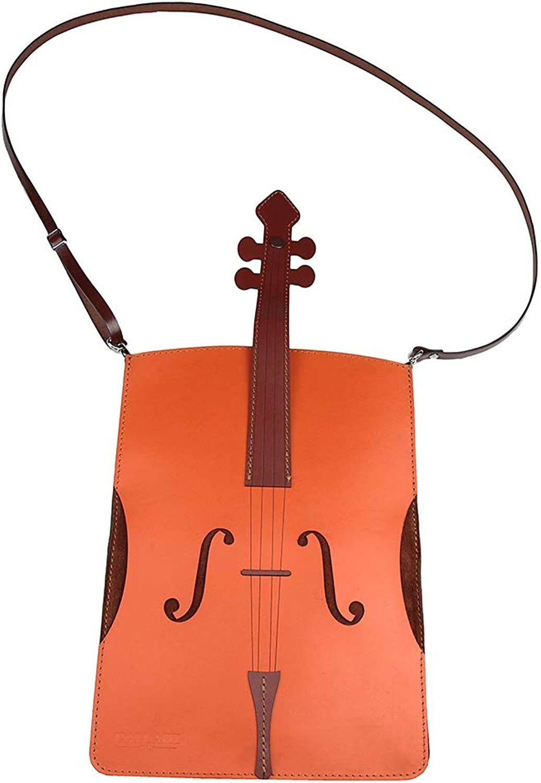 Dallaiti Violin Leather & Suede Crossbody Bag