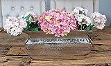 MichaelNoll Vase Blumenvase Gefäß Pokalvase Dekovase Aluminium Silber, Deko Modern aus Metall, Wohnzimmer und Küche 30 cm