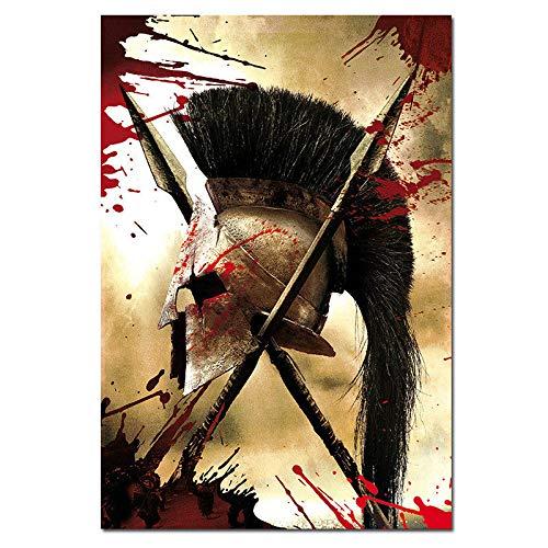 ACUOHU Rahmenlose Malerei Spartan Warriors Filmplakat Bilder Poster Kunstdrucke Wanddekor Leinwand Leinwandmalerei Wandkunst A58 (50X70Cm)