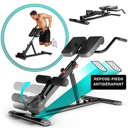Sportstech Banc de Musculation BRT150 6en1 avec Barre à dips pour Domicile, Hauteur réglable, Ergonomique, système de Pliage Facile, hyperextension Home Trainer (Noir)