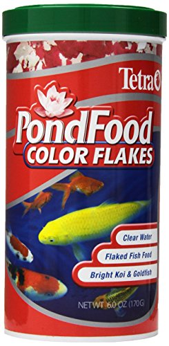 TetraPond PondFood Color Flakes, Color-Enhancing Flaked Fish Food For Small...