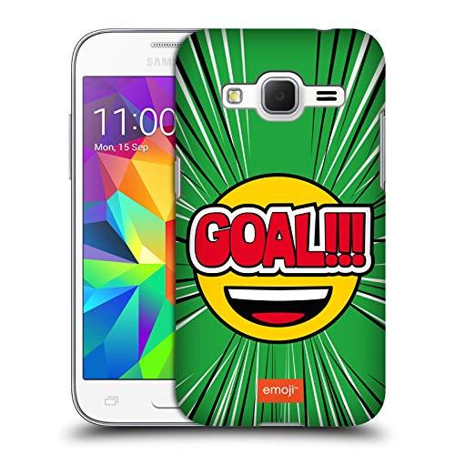 Head Case Designs Ufficiale Emoji Goal Football Cover Dura per Parte Posteriore Compatibile con Samsung Galaxy Core Prime