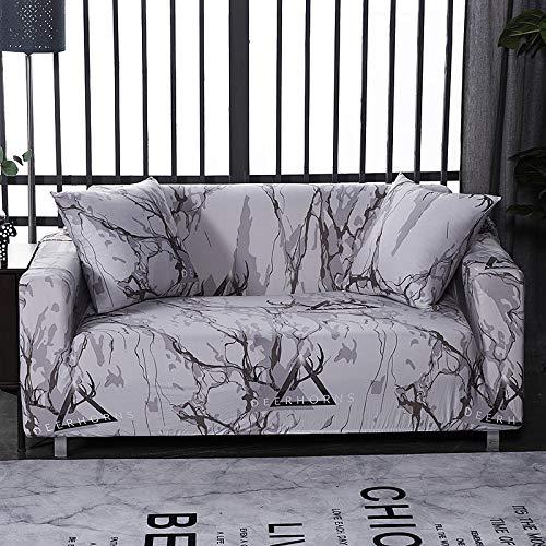 PPMP Wohnzimmer geometrische All-Inclusive-Sofabezug Moderne elastische Abschnitt Ecksofabezug Sofabezug A15 2-Sitzer