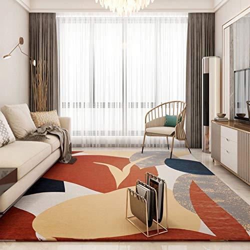Alfombra Salón Alfombra moderna y sencilla de la sala de estar Estera de mesa de café de estilo nórdico de tatami tejido de alta densidad con forma de cama matrimonial - Alfombra de la sala de estar d