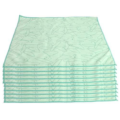 SALALIS Paño de Limpieza de Microfibra, 10 Piezas Toalla de teñido de impresión reactiva Diseño de impresión Verde Toalla Cuadrada Verde para el hogar Restaurantes Hospitales, Kindergarten