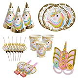 BETOY Gebutstag Party Set Einhorn Party-Set