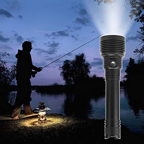 KIKYO Linterna de Buceo, 4000LM 35W Linterna de Buceo Impermeable LED Recargable Luces de Buceo subacuáticas para Buceo Camping Senderismo Montaña