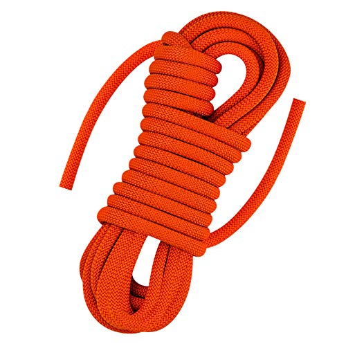 AOLEBA Strong Static Rock Climbing Rope, Tree Climbing Camping Rescue Rope for Outdoor Survival, Hiking, Mountaineering, 10.5mm Diameter, 32 ft (10m)