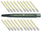 Lápiz Faber Castell giratorio con cristal goma de borrar (fibra de vidrio Pincel) expertos de Long Life de recambio Incluye 20minas.