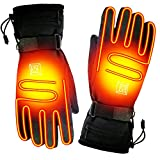 SPRING Rechargeable Electric Heated Gloves,Touchscreen Waterproof Cold Weather Thermal Heated Gloves,Hand Warmer Gloves for Hunting Fishing Skiing Camping Cycling (Button)