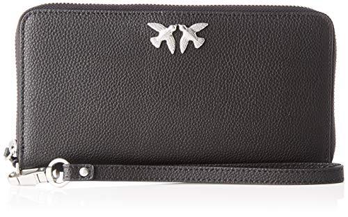 Pinko Christie Simply 1 Wallet Zip A, Portafoglio Donna, Nero (AZZURRO CIC. INDIA), 2.5x11x21 cm (W x H x L)