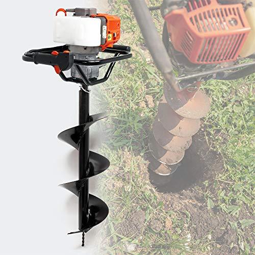 Benzin Erdlochbohrer Set mit 300 mm Bohrer, 1,4 kW 1,9 PS 52ccm Pfahlbohrer Pflanzenbohrer