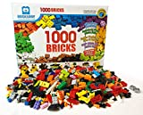 1,000 Bricks - 1000 Toy Building Blocks (Plus 70 Free - Total 1070 Pieces!) - Mixed Colors - Compatible - Great Creative Box
