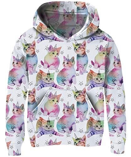 ShenigonCorgi Dog Unicorn Pullover Hoodie Sweatshirt Teens Hooded for Boys Girls