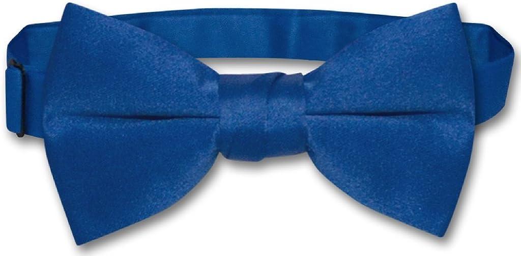 Vesuvio Napoli BOY'S BOWTIE Solid ROYAL BLUE Color Youth Bow Tie