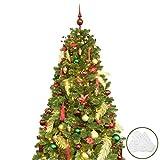 BusyBee Árbol de Navidad Artificial de 210 cm con 360 Luces LED y 135 Decoraciones...