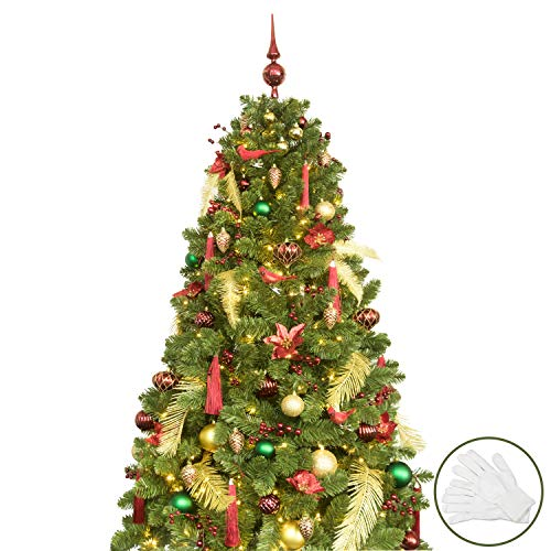 KI Store 6ft Artificial Christmas Tree with Ornaments and Lights Christmas Cheer Christmas...