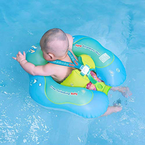 Free Swimming Baby Inflatable Baby Swim Float Children Waist Ring Inflatable Pool Floats Toys Swimming Pool Accessories for The Age of 372 MonthsBlue L