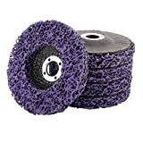 """WerkWeit [5 PCS] 4"""" x 60# Poly Strip Disc Wheel Paint Rust and Oxidation Removal Clean for Angle Grinder"""