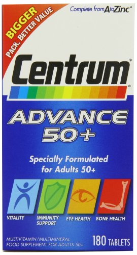Centrum Advance 50+ Multivitamin - Pack of 180 Tablets